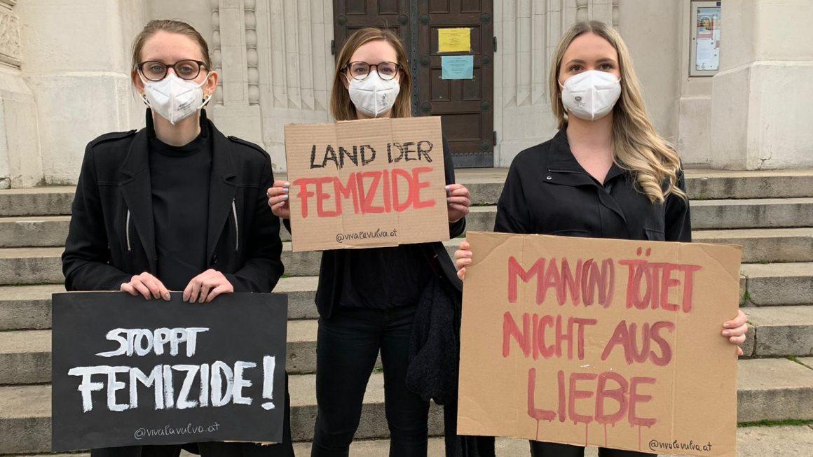 Kundgebung anlässlich der Femizide in Österreich am 14. Mai